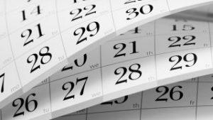 Hãy chú ý đến ngày tháng